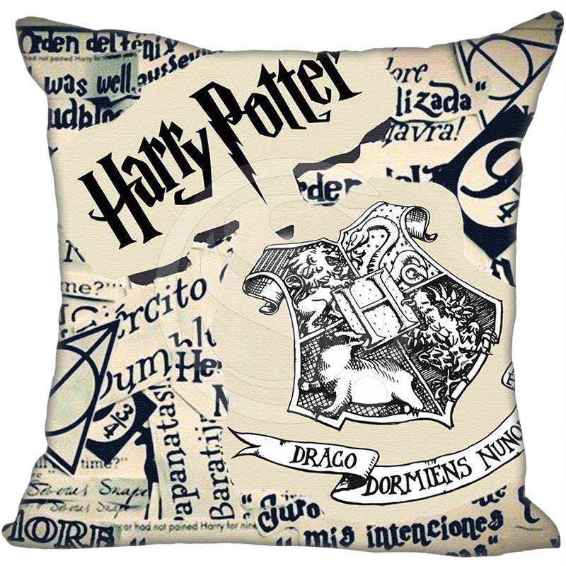 Custom Square Pillowcase Harry Potter Unique Logo Soft Pillow Cover Zippered &F Size 2020,two Sides