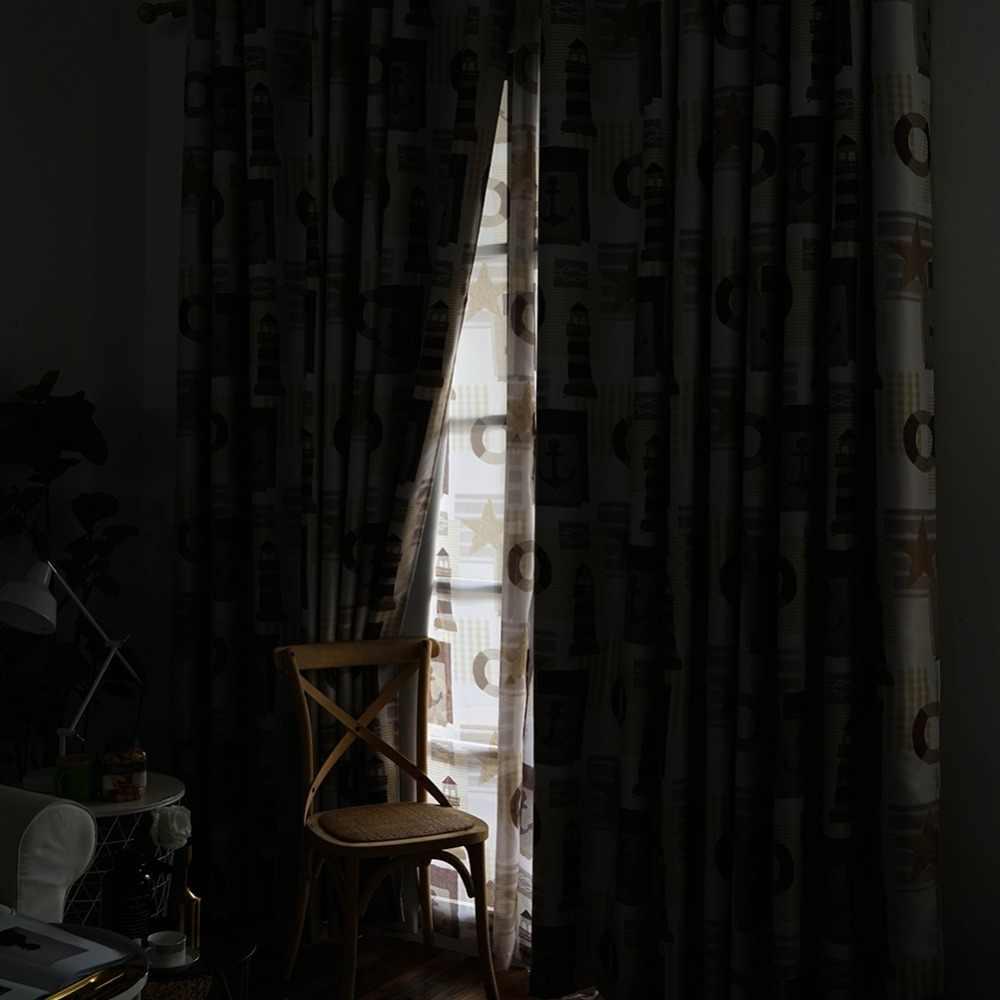 Topfinel Звезда и якорь навигация Мультфильм шторы для детей Детская комната Тюль для гостиной спальни Занавески для окна плотные панель шторы