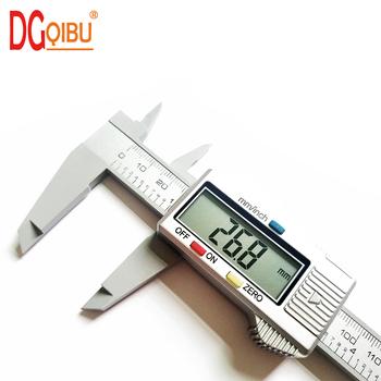 Cyfrowy suwmiarki środek 150mm 6 cal LCD elektroniczny z włókna węglowego miernik pomiar wysokości instrumentów mikrometr tanie i dobre opinie DGQIBU Elektryczne CN (pochodzenie) 0-150mm Z tworzywa sztucznego 0 1mm Cyfrowe suwmiarki 0025