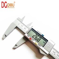 Paquímetro, vernier digital paquímetro medida 150mm 6 polegadas lcd medidor de altura instrumentos de medição micrômetro eletrônico fibra de carbono
