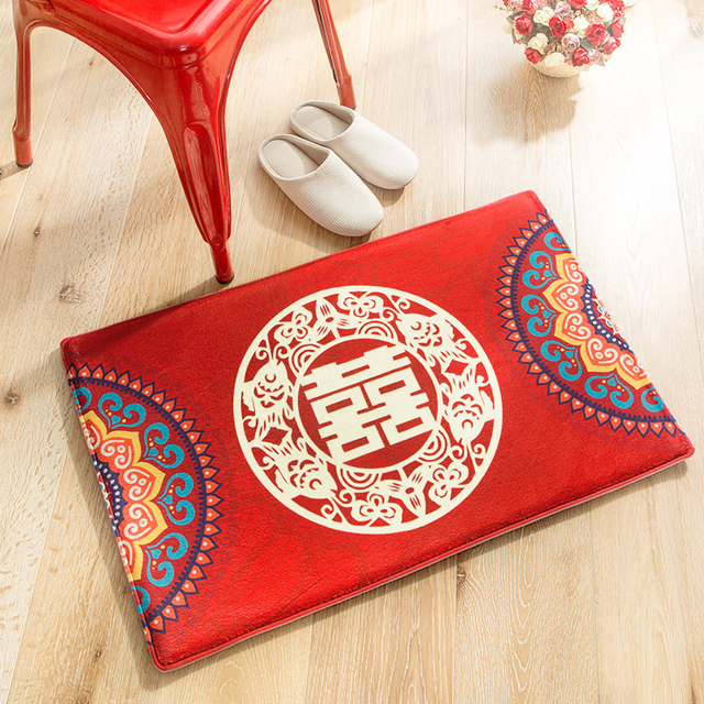 1 pc tapis chinois traditionnel rouge mariage bonheur tapis zone ...
