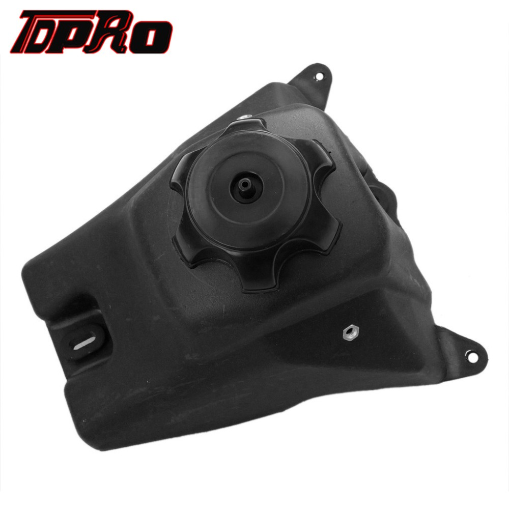TDPRO 1x New Gas Petrol Fuel Tank <font><b>Pit</b></font> Dirt <font><b>Bikes</b></font> Motorcycle Gas Fuel Tanks black For Honda CRF50 XR50 50CC 70CC 110CC <font><b>125CC</b></font> 2015 image
