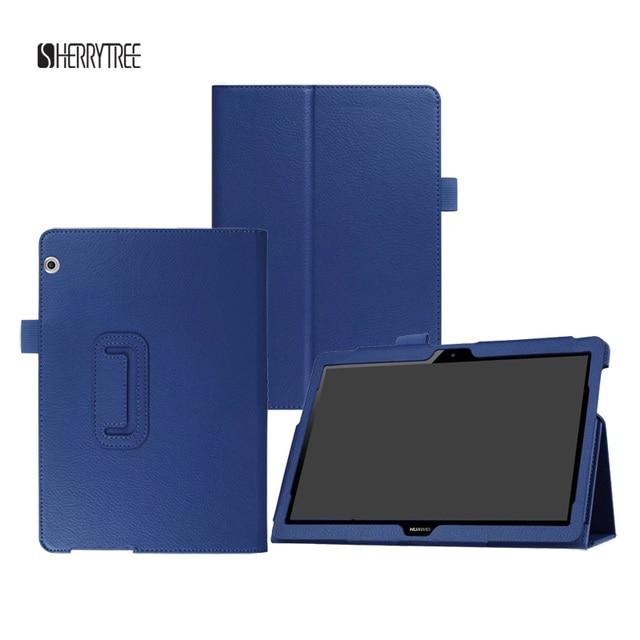 30 Cái/lốc Đối Với Huawei T3 10 Lật Đứng Vải PU Bìa Case Cho Huawei Mediapad T3 10 Tablet 9.6