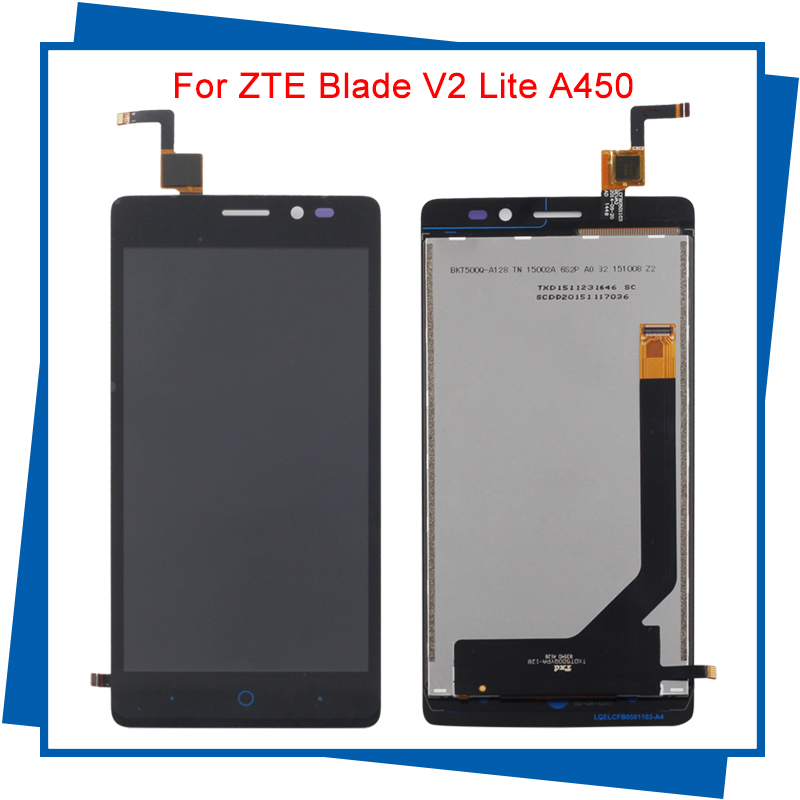 For ZTE Blade V2 Lite A450 Touchscreen Panel Original LCD display Touch Screen digitizer Sensor Lens Glass Free tracking number qiwang genuine leather bag women luxury handbags women bags designer chain shoulder bags for women new year red bag quality gift