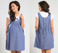 2015 New Summer Maternity Dress One-piece Casual Dress pregnancy Denim Clothing Bow Clothes for Pregnant Women