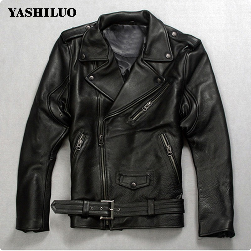 2020 High Quality Fashion Mens Punk Belted Real Leather Waistcoat Slim Fit Moto Riding Biker Jacket Zip Coat Italian Designer From Beltloop 186 67 Dhgate Com