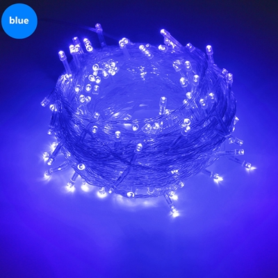 Струнный светильник 100 светодиодный 10 м Рождественский/свадебный/вечерние декоративный светильник s гирлянда AC 110 В 220 В Уличный Водонепроницаемый светодиодный светильник 9 цветов светодиодный - Испускаемый цвет: Синий