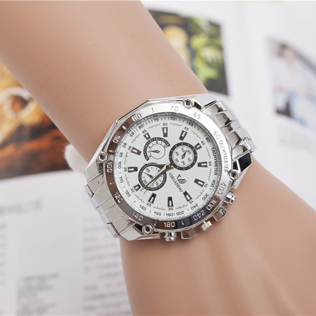 Creative Women Watch New Geneva Ladies Women Girl Unisex Stainless Steel Quartz Wrist Watch