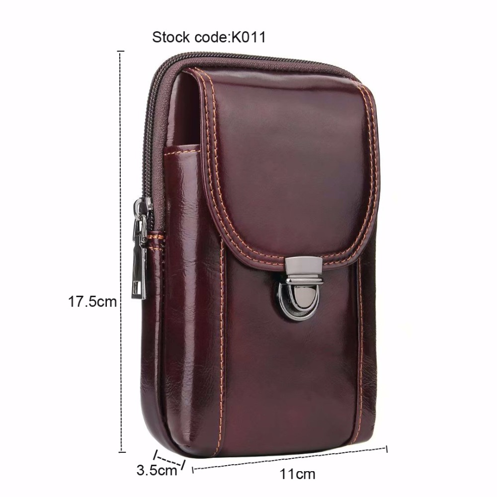 Waist Band Belt Genuine Cow Leather Mobile Phone Case For Moto M/Z3 Play/E5 Plus/E5/E5 Play/G6 Play/G6/G6 Plus/Z2 Force/X4/G5S