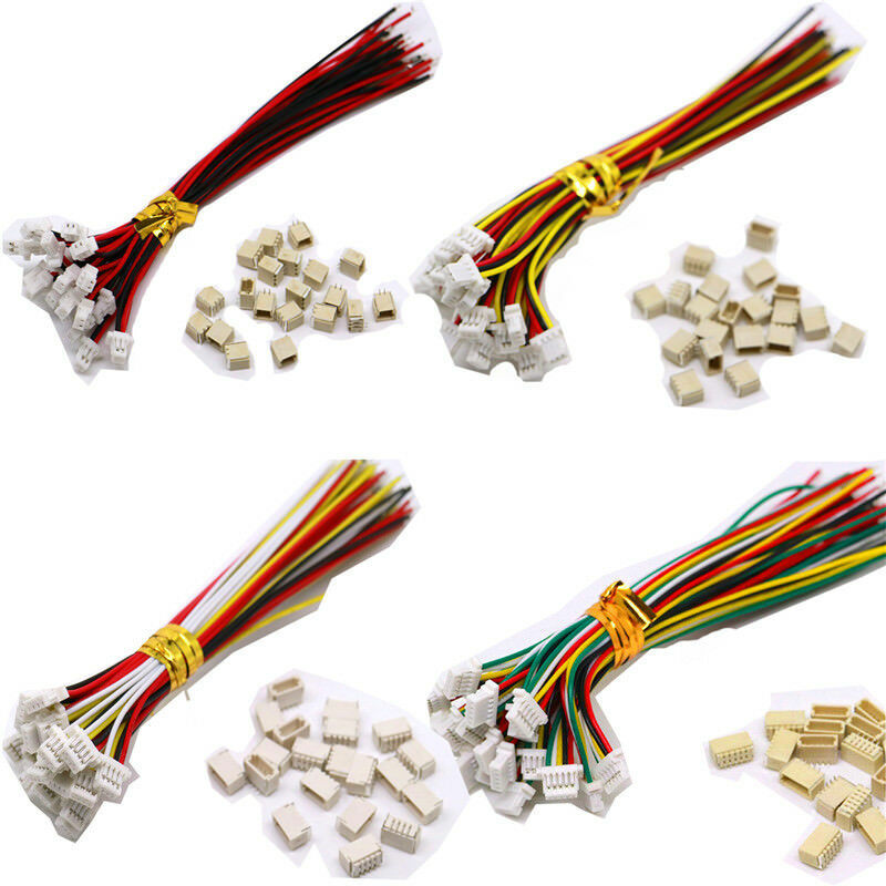 5 Sets Mini Micro jst SH 1.0mm <font><b>2Pin</b></font> 3/4/5/6/7/8/9/10P JST <font><b>Connector</b></font> with Wires <font><b>Cable</b></font> image