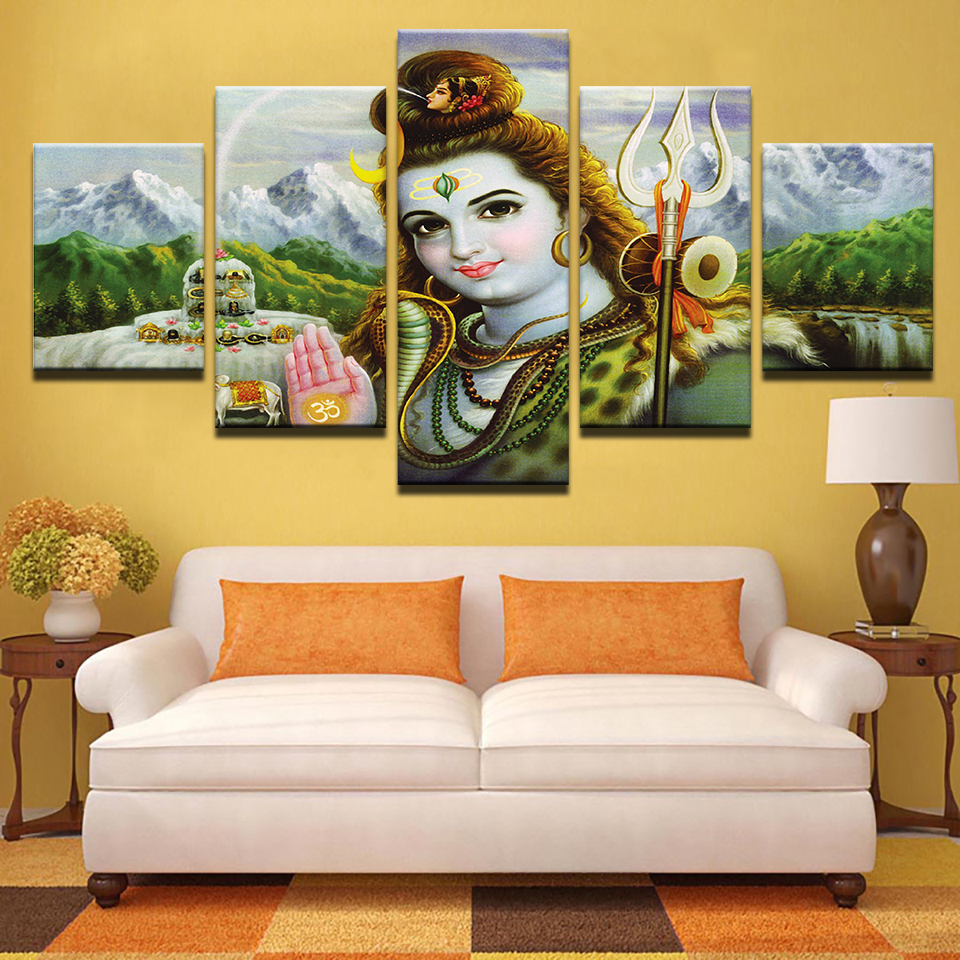 Modern Canvas Abstract Painting HD Printed Pictures Wall Art 5 ...