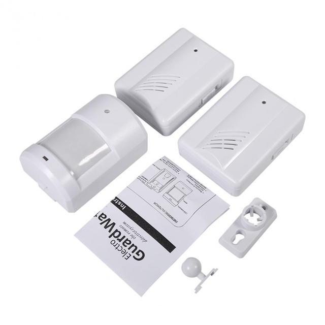 1 Set Wireless Doorbell Motion Sensor Alert Secure System Alarm For Home Security Driveway