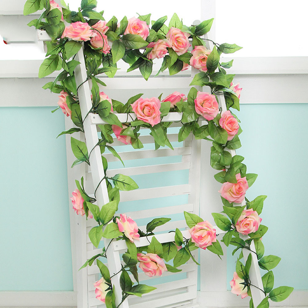 Ordinaire 240cm Wedding Decorations Silk Roses Artificial Flower Vine Home Garden  Decoration Rattan Floral Wall Flowers In Artificial U0026 Dried Flowers From  Home ...