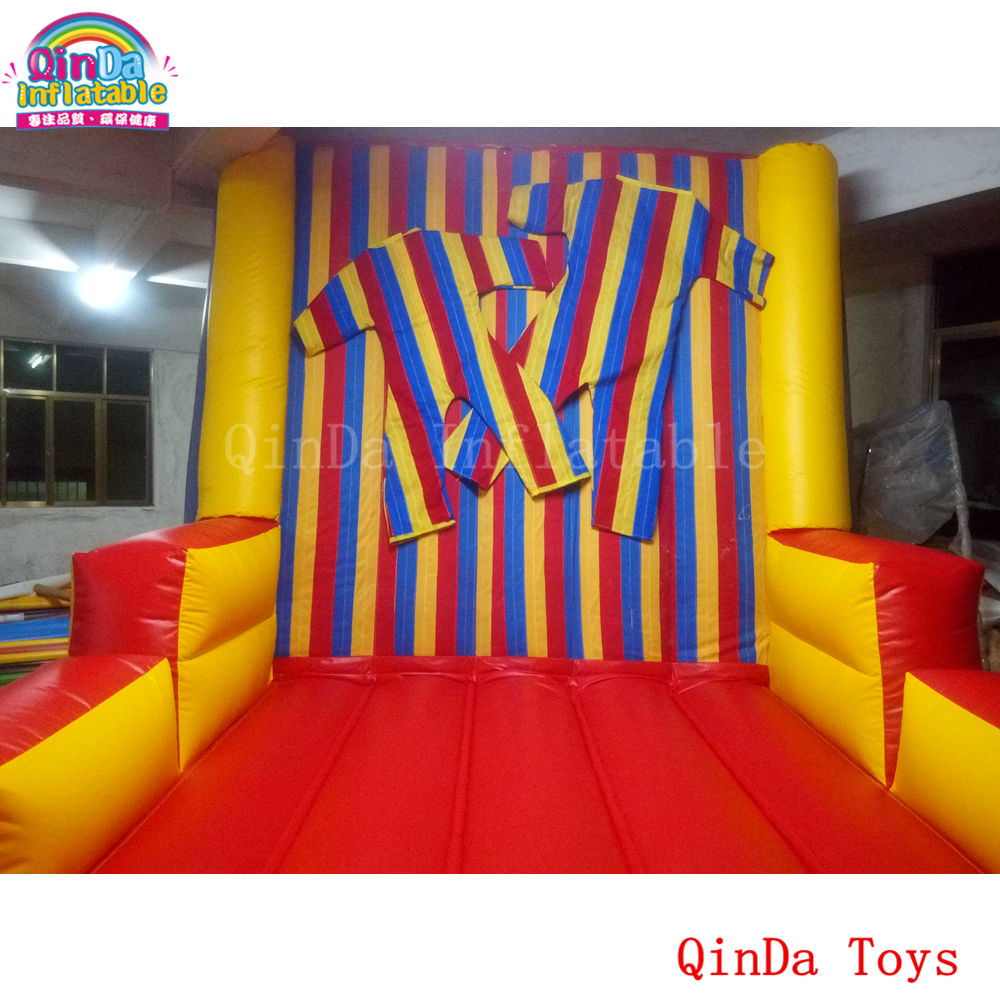 Funny sports games inflatable stick wall with free suit,jumping castle inflatable sticky wall big inflatable toys inflatable sticks wall sticky wall toys and hobbies kids games inflatable magic jump wall castle for sale