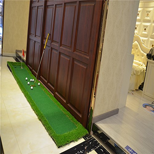 Image 5 - FUNGREEN 50x300CM Mini Golf Putting Green Indoor Outdoor Backyard Protable Golf Practice Putting Trainer Mat for Golfers-in Golf Training Aids from Sports & Entertainment