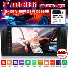 9 Inch Android 8.1 3G 4G bluetooth Car Dash Video GPS Stereo Radio Wifi MP5 Player Car Multimedia Player For BMW E39 X5 E53(China)