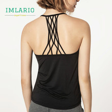 Imlario Women Open Back Athletic Yoga Tank Racerback Fitness Top Slim Fit Running Shirts Quick Dry Cottony Soft Gym Activewear