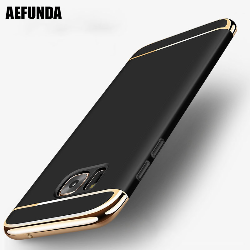 Plating Frame Matte PC Shockproof Phone Case For Samsung Galaxy S7 S6 Edge S8 S9 Plus J3 2016 A3 A5 A7 2017 J5 J7 Prime NOTE 8