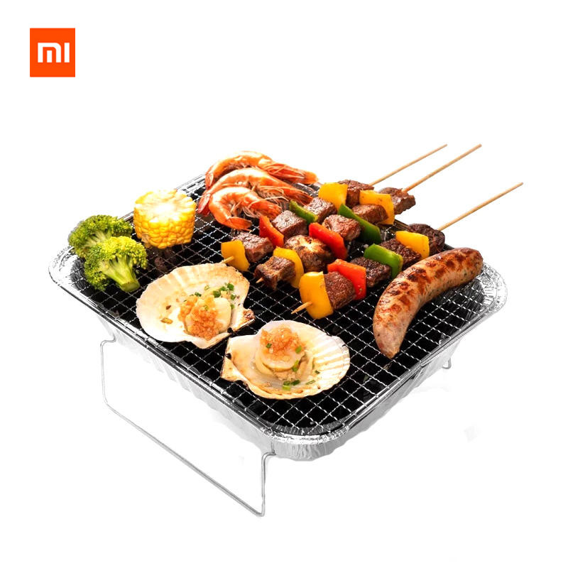 Original Xiaomi mijia zaofeng 2-3 People Portable BBQ Barbecue Grill Stainless Steel Cooking Stove Outdoor Camping Picnic 3 5 people outdoor picnic thick stainless steel barbecue grill portable folding grill barbecue tools