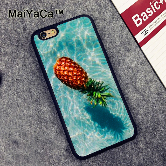 US $4 34 5% OFF|MaiYaCa Beach Ocean Pool Pineapple Case for Apple iPhone 6S  6 TPU Case for iPhone 6 6s Soft Rubber Skin Back Covers shell-in Fitted