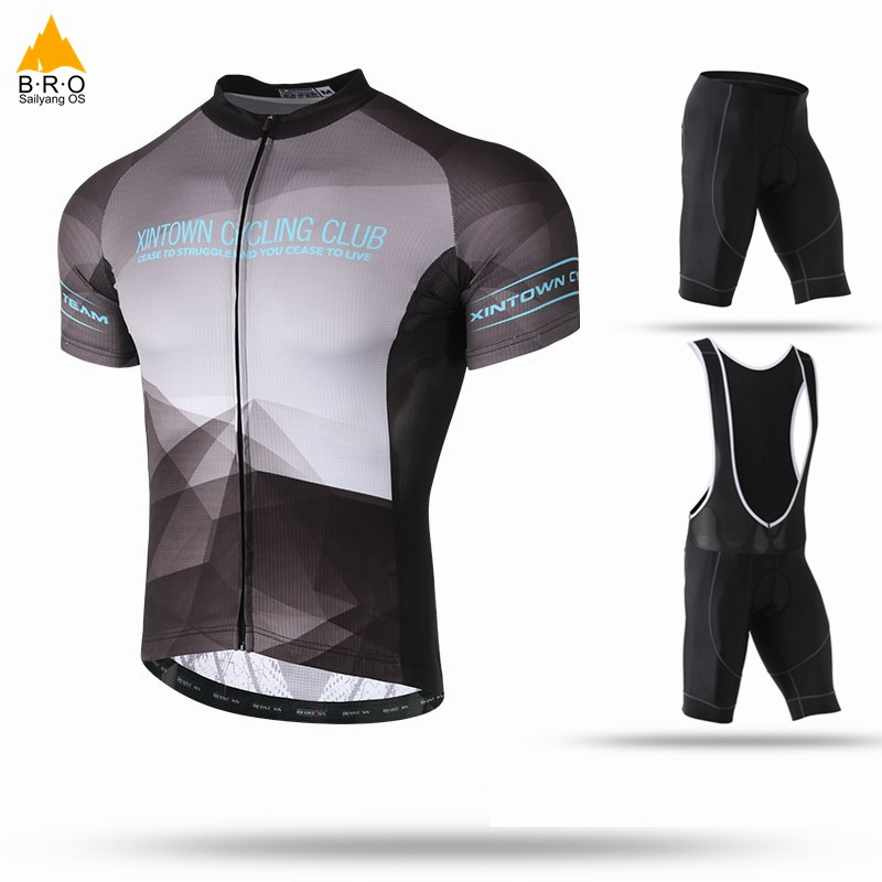 Men Women 2018 Cycling Jersey Bib Short Sleeve Sets Summer Cycling Clothing Kits Male Breathable Mallot