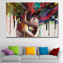 SELFLESSLY ART Posters Prints Lover Hugging Canvas Painting Wall Pictures For Living Room Art Abstract Decoration Paintings
