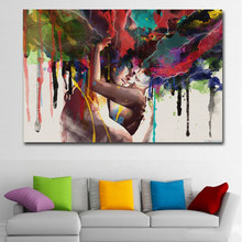 SELFLESSLY ART Posters Prints Lover Huging Canvas Painting Wall Pictures For Living Room Wall Art Abstract Decoration Paintings(China)