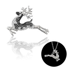 2019 Early Spring New Christmas Jewelry Fashion Creative Rhinestone Enamel Metal Red Deer Sika Chain Brooch Double