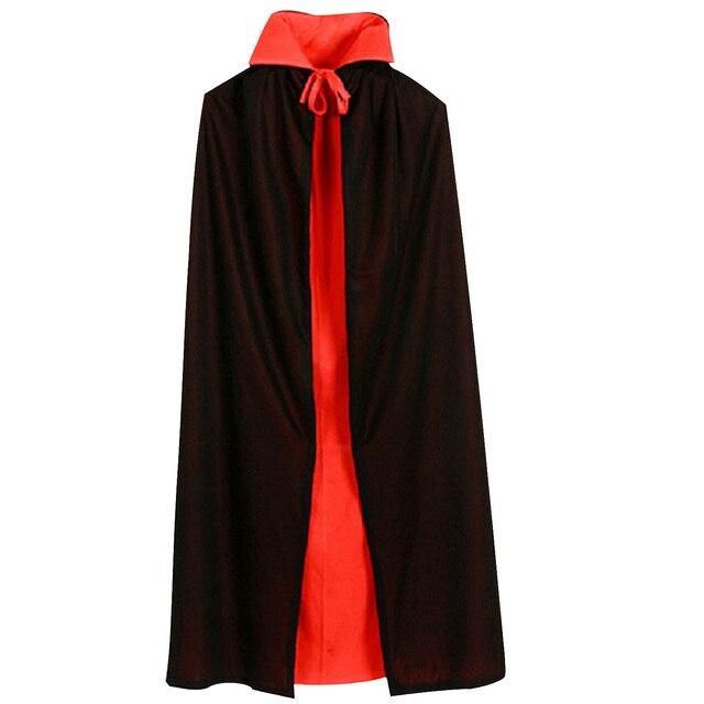 Behogar Vampire Dracula Cloak Cape for Children Kid Halloween Party Cosplay  Fancy Dress Costume Black Red 9d26876dd53a8