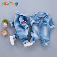 Sodawn 2017 Infant Clothes Unisex Baby Clothing Cute The Giraffe Design Baby Long Sleeve Jumpsuits Suit