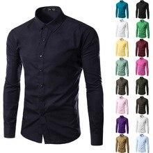 12 Colors 5XL Men Shirts Long Sleeve Trend 2019 Casual Shirt Men Blouses Clothes Hot Sale Camisetas Chemise Homme