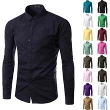 12 Colors 5XL Men Shirts Long Sleeve Trend 2019 Casual Shirt Blouses Clothes Hot Sale Camisetas Chemise Homme