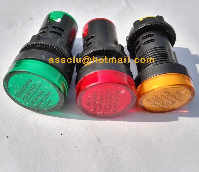 22mm LED Pilot Panel Indicator Lamp Signal Light LED Bulbs Sensor Light  Power Indicator 5 Colors 5 Volages At Your Choice