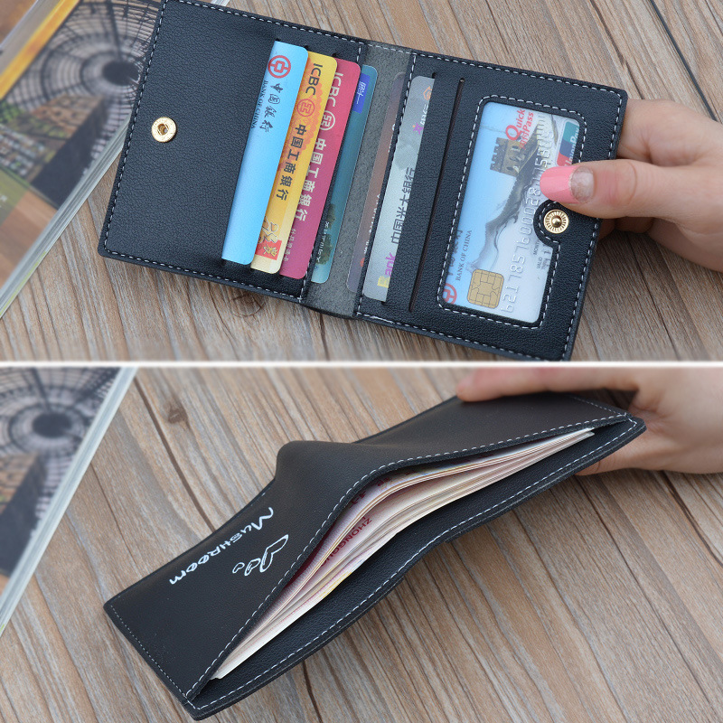 Women Wallets New Arrival Wallet Short  Zipper Purse Patchwork Panelled Wallets Trendy Coin Purse Card Holder seal print 408