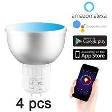 Boaz 5W Smart Light Wifi Led Bulb GU5.3 Spotlight RGBW Remote Soptlight Alexa Google Home IFTTT Tuya AC85-265V