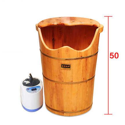 Высокая Паровая машина Паровая ножная ванна бочка фумигационная бочка утолщенная с подогревом для ног Ванна Твердая Деревянная ножная ванна педикюр массаж