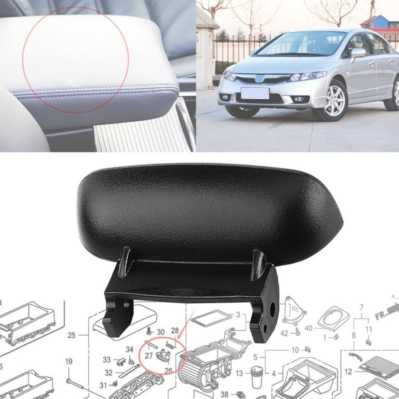 Blk Armrest Cover Lid Lock Center Console Latch For Honda Civic 2006-11 US Stock
