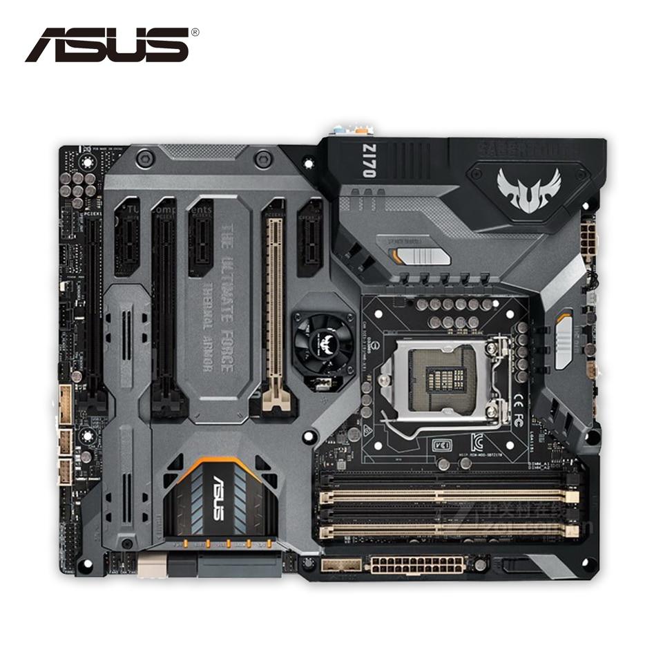 Asus SABERTOOTH Z170 MARK 1 Desktop Motherboard Z170 Socket LGA 1151 i7 i5 i3 DDR4 64G ATX Second-hand High Quality le fate топ