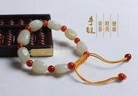 Mooie Natuurlijke Echt HeTian Yu Kralen Geluk Armband verstelbare Armbanden armband sieraden + doos + certificaat