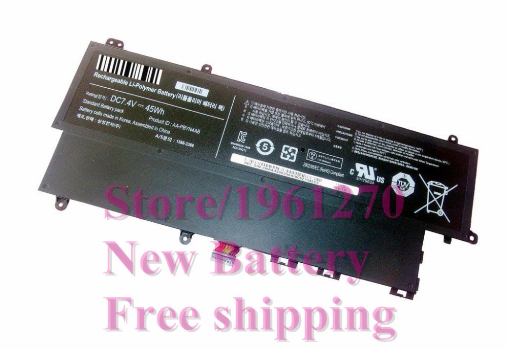 New Original 7.4V 45Wh AA-PBYN4AB AA-PLWN4AB battery for Samsung Ultrabook Np530u3c Np530u3b Np-530u3b Np-530u3c Free shipping mycolen 2018 new spring summer classic shoes men high quality black men s shoes breathable casual loafers men shoes krasovki