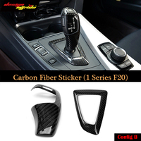 For BMW F20 F30 F31 F34 5 Series Carbon Fiber Refit Car Gearshift Panel Frame Stickers Gear Knob Cover Decorations Car Interior