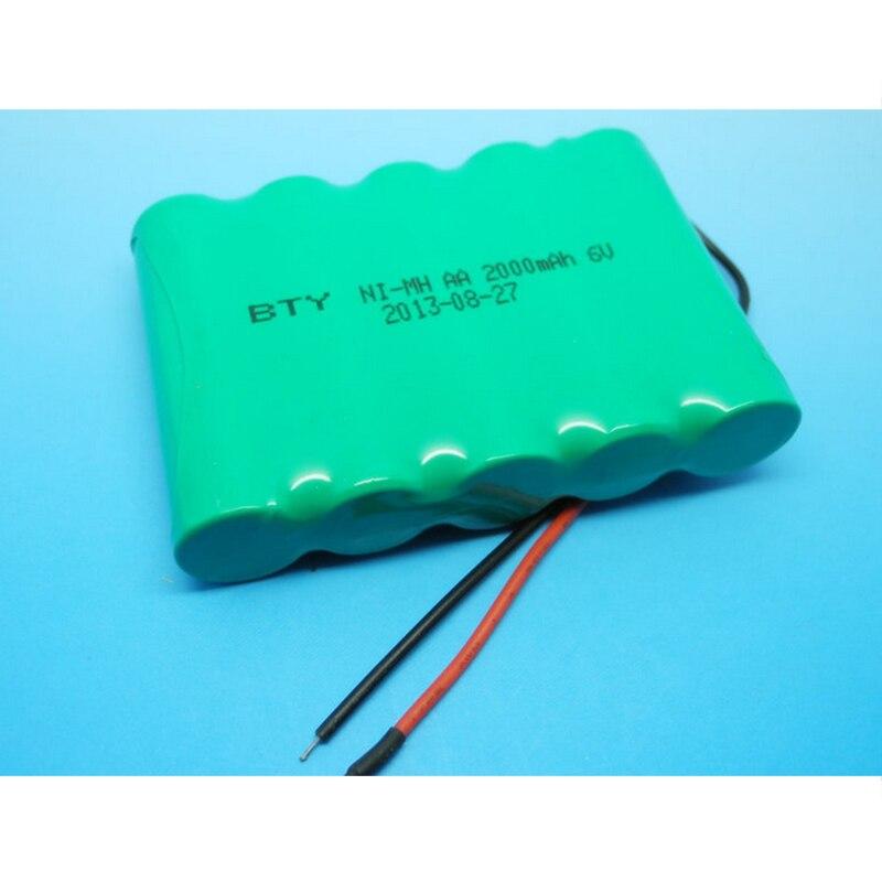 1 paquet 14500 piles rechargeables NI-MH 6 V recyclables 2000 mAh 14500 cellules de batterie NiMH pour les jouets électroniques de lampe de poche