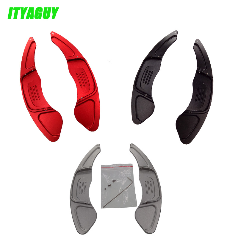 Free Shipping High Quality 2pcs Car Steering-Wheel Shift Paddle Shift For Volkswagen VW GOLF 7 2015- GTI R MK7 Scirocco