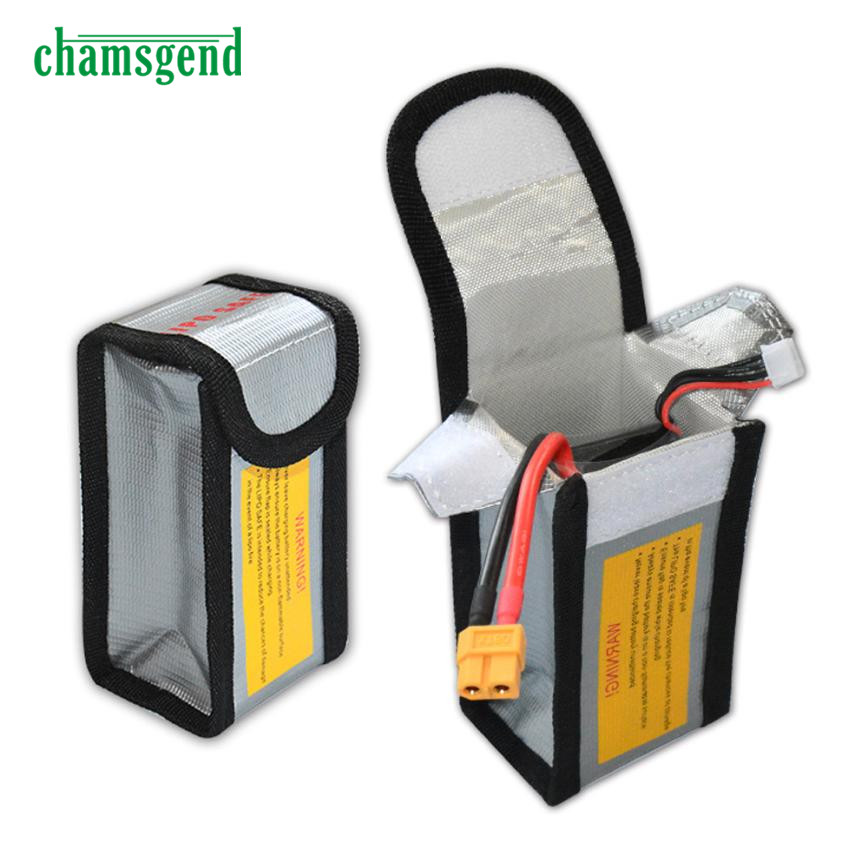 LiPo Li-Po Battery Fireproof Safety Guard Safe Bag 64*50*125MM Levert Dropship S9162(China)