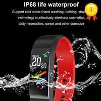 Reloj inteligente Larga modo de reposo con pantalla táctil, reloj inteligente deportivo con control del ritmo cardíaco y del sueño, para natación y lavado de manos, 2019