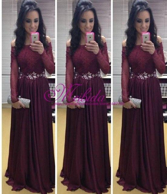 2015 Beautiful Red Prom Dresses Pretty Long Prom Dresses Long Sleeve ...