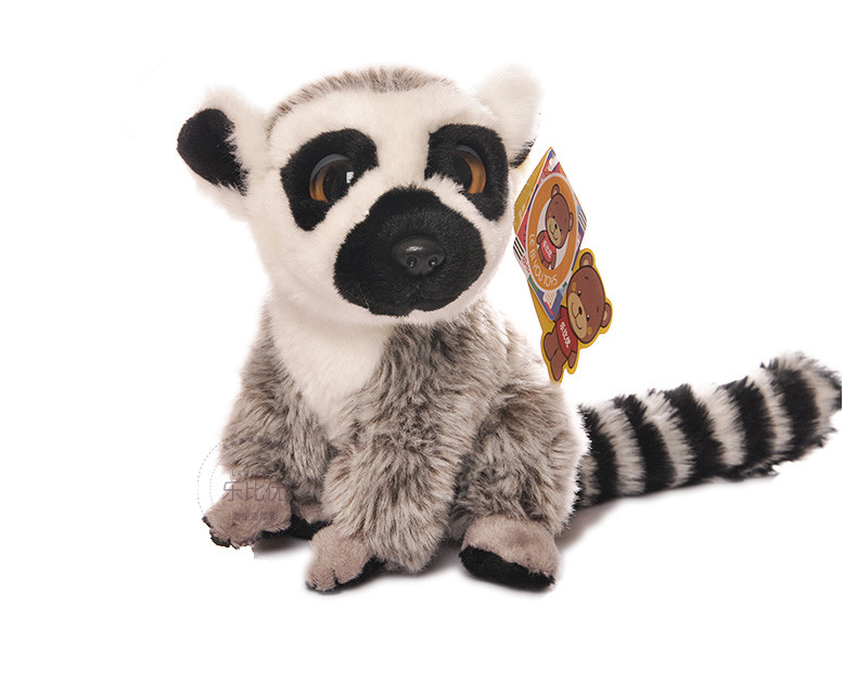 Free Shipping 18cm Simulation Lemur Stuffed Animal Toys