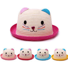 ARLONEET Summer Baby Cartoon Children Breathable Hat Straw Kids Hats For Boy Girls Cap Beach Caps Baby Girls P30(China)