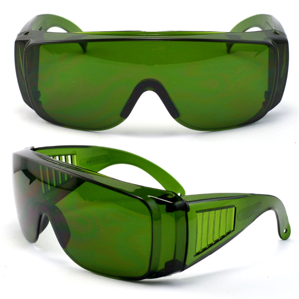 IPL CE 200nm-2000nm cold laser therapy device laser protection goggles Safety Glasses Dark Green colour Protective glassesIPL CE 200nm-2000nm cold laser therapy device laser protection goggles Safety Glasses Dark Green colour Protective glasses