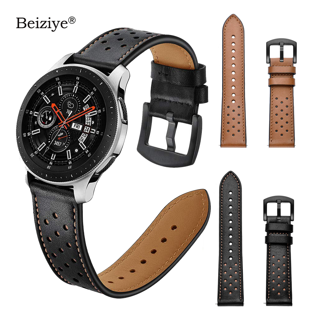 20mm 22mm Width Leather Watch Band Straps For Samsung Galaxy Watch 42mm 46mm Gear S3 Frontier/S3 Classic Watch Bracelet Strap strap